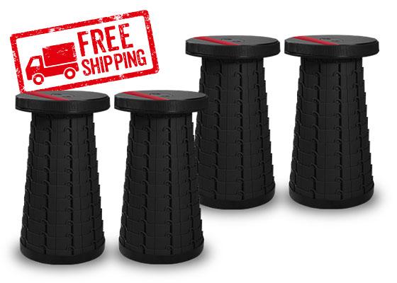 Four Pack of Ninja Stool; Free shipping stamp in corner