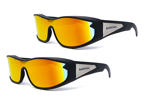 """2 pairs of Battle Vision; 2 pairs of NightVision with """"Improves night-time clarity"""" burst; free shipping stamp in corner"""