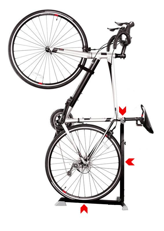 Gripping points on the BikeNook
