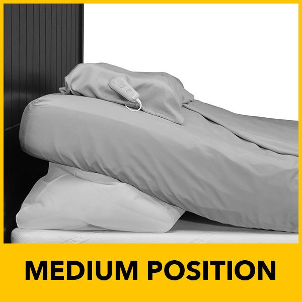 power bed in medium position