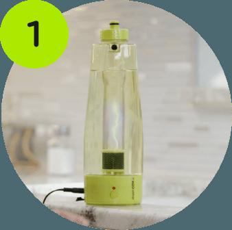 Filling the activator bottle