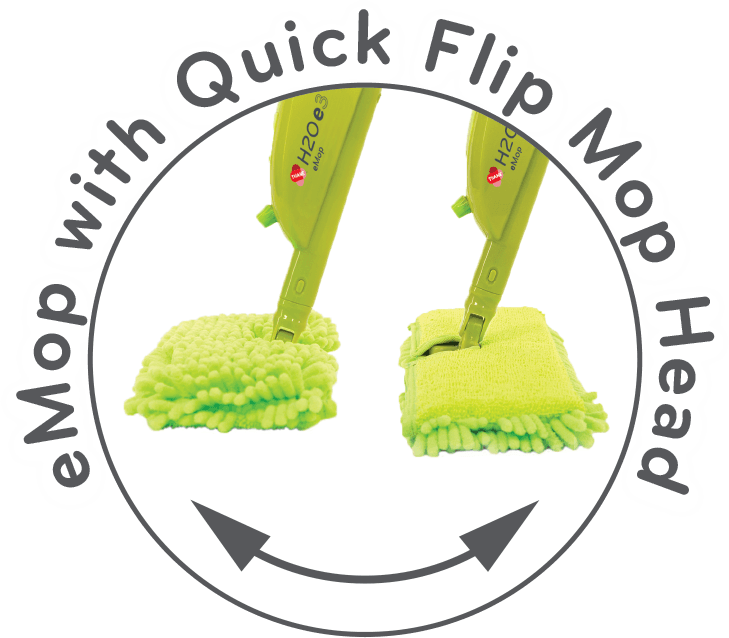eMop with Quick Flip Mop Head