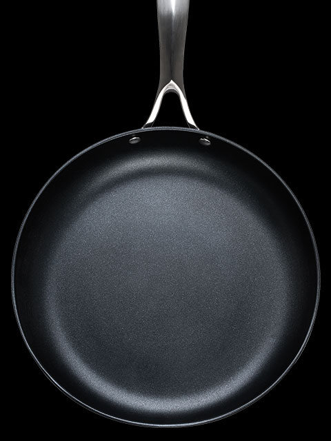front of pan