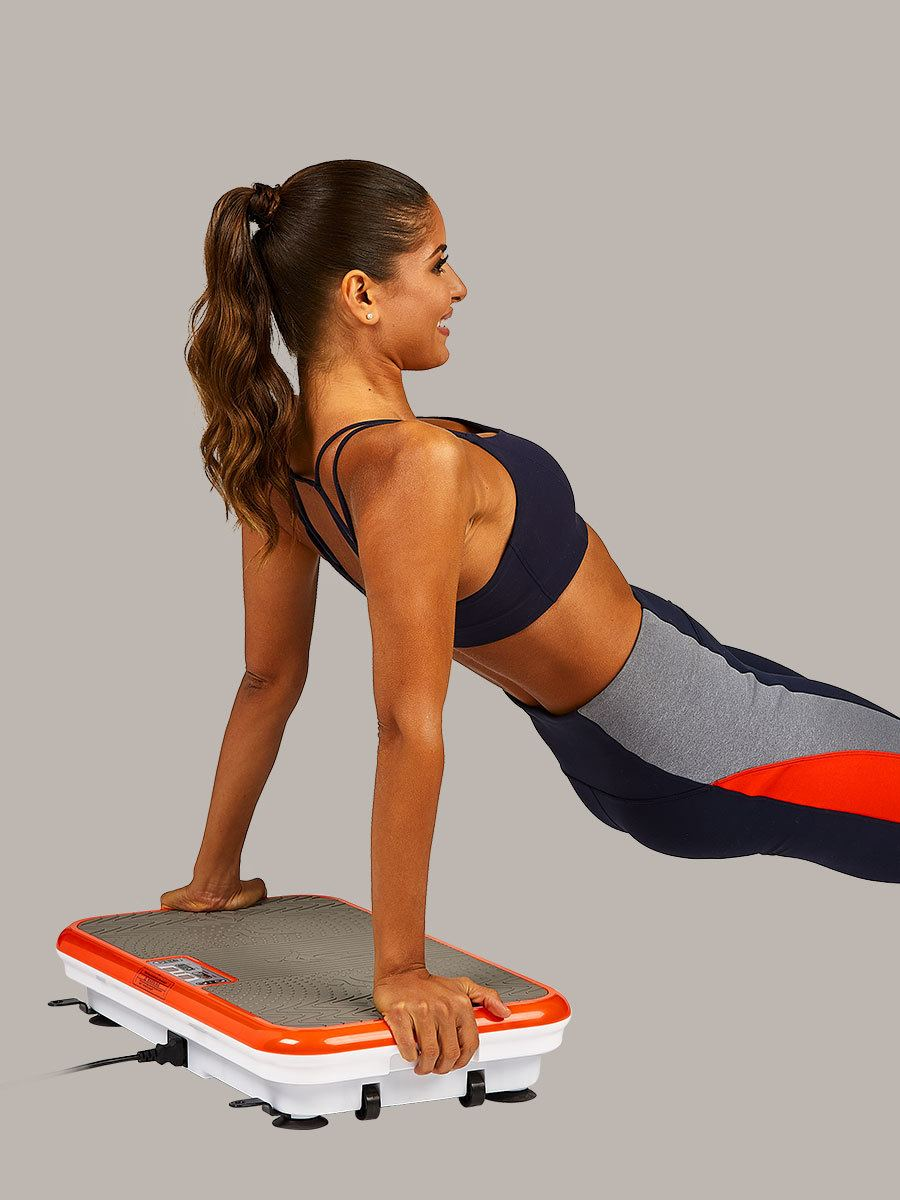 woman doing core workouts on PowerFit Elite