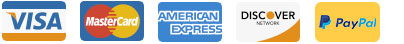 Visa MasterCard Amex Discover PayPal