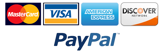 credit cards accepted visa mc amex