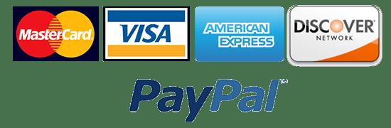 credit cards accepted visa mc amex