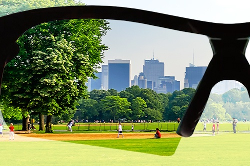 Battle Vision enhancing color of park
