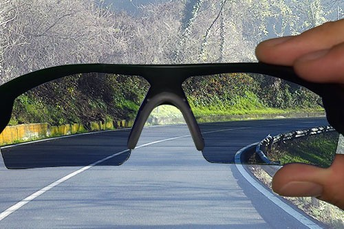 Battle Vision reducing glare on road