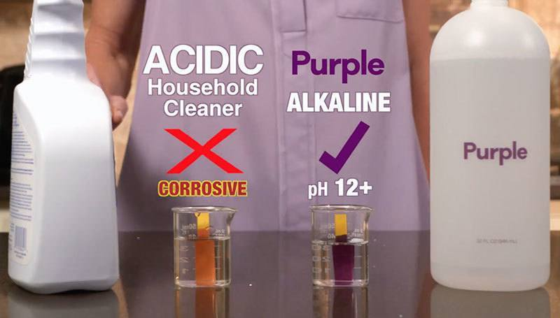 Purple cleaning solution