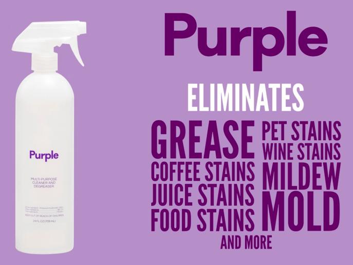 Purple multipurpose cleaner