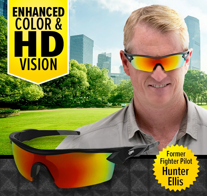 Enhanced Color & HD Vision. Former Fighter Pilot Hunter Ellis wearing Battle Vision