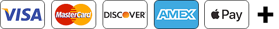 Visa MasterCard Discover Amex Apple Pay Plus Sign