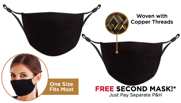 Copper Wear Mask Double Offer