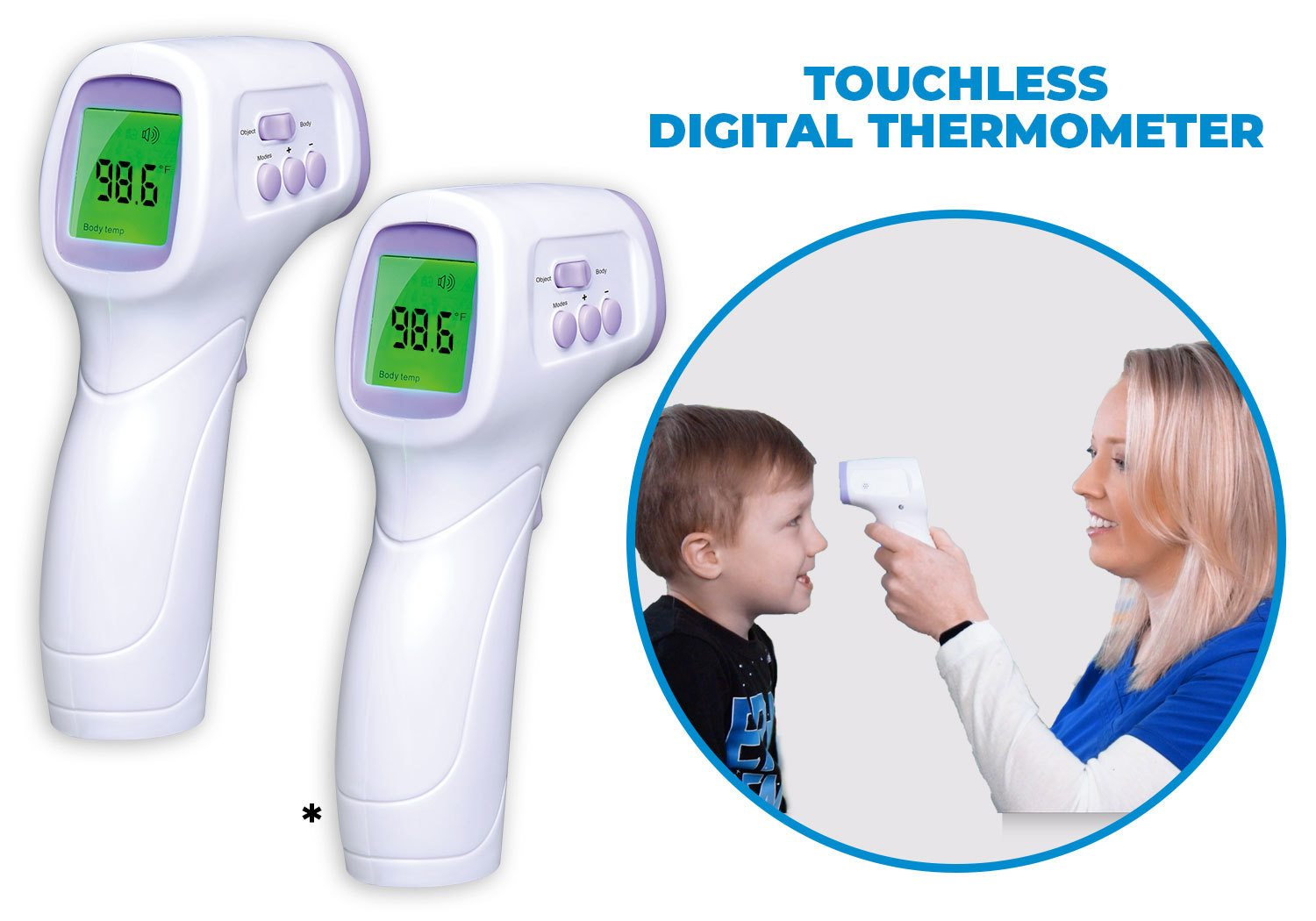 Temp-A-Sure Touchless Digital Thermometer Double Offer