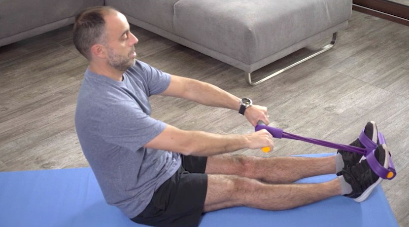 man on exercise mat using ezcise