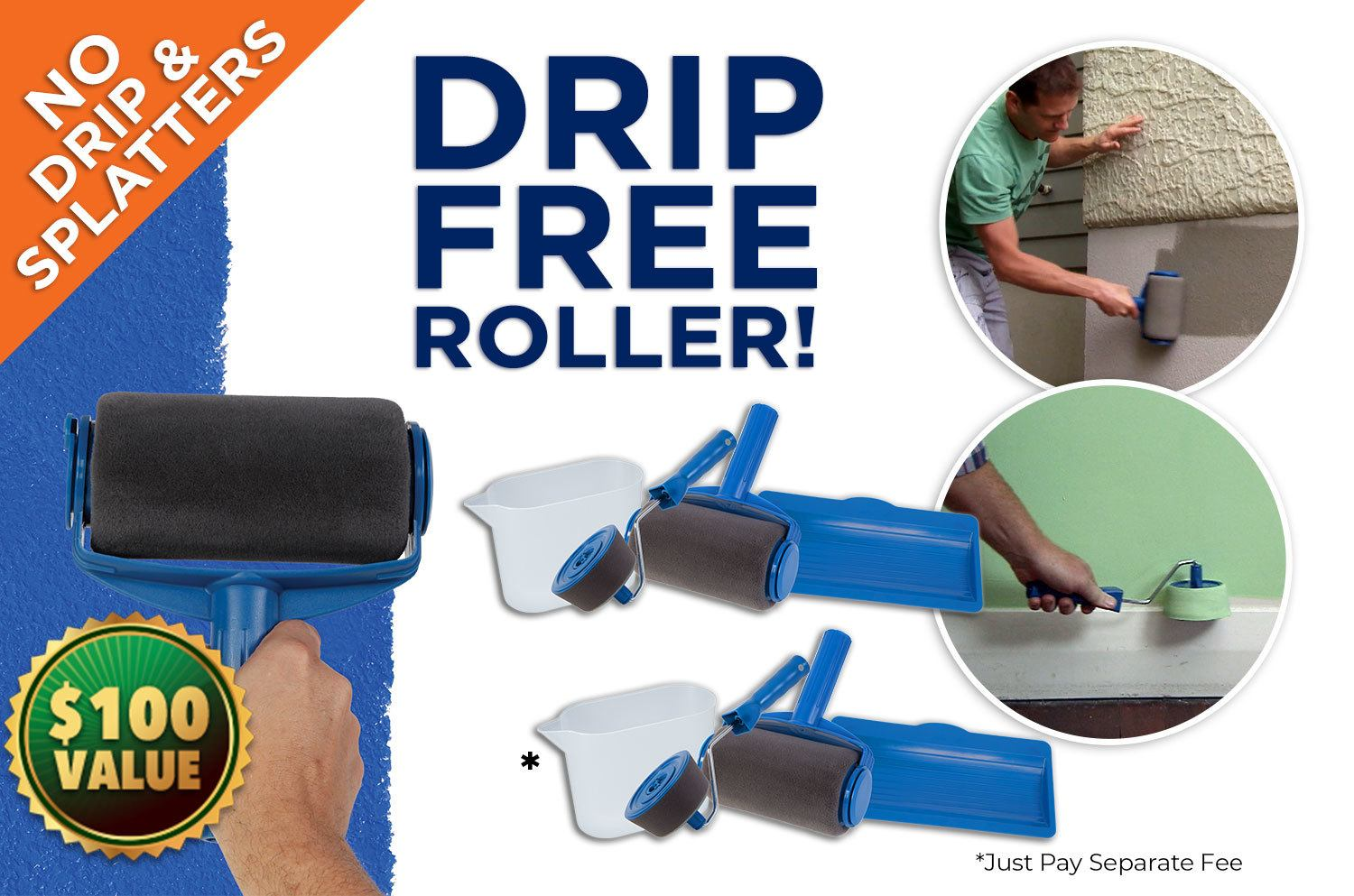 Paint Runner Pro Offer with Free Roller + p&h