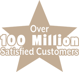 Over 100 Million Satisfied Customers