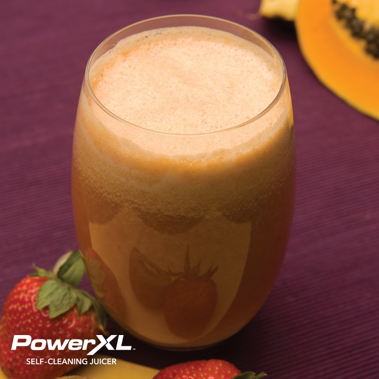 fresh smoothie with stawberries