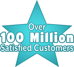 Over 100 Million Satisfied Customers