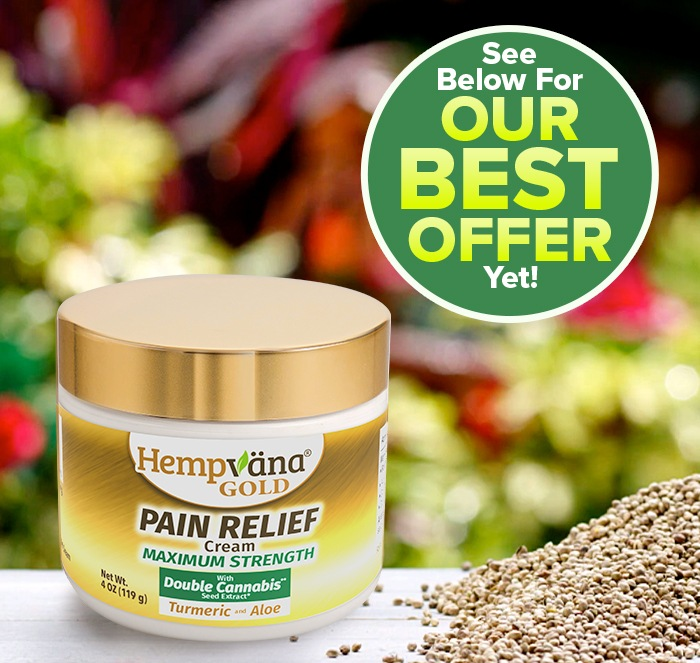 close up of Hempvana Gold jar; see below for our best offer yet!