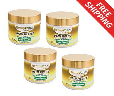 4 Jars of Hempvana Gold; Free shipping
