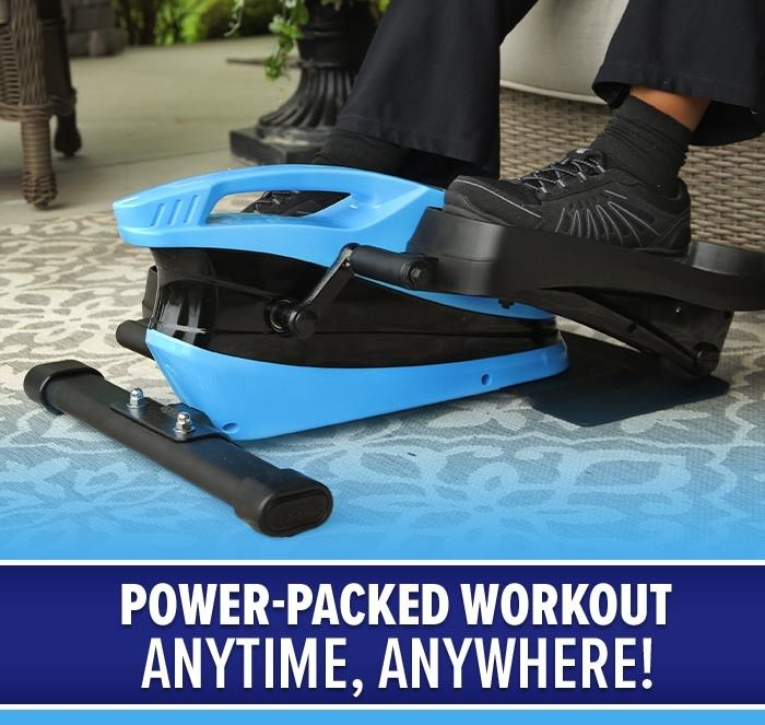 Power-packed workout anytime, anywhere; close up of person using Blu Tiger