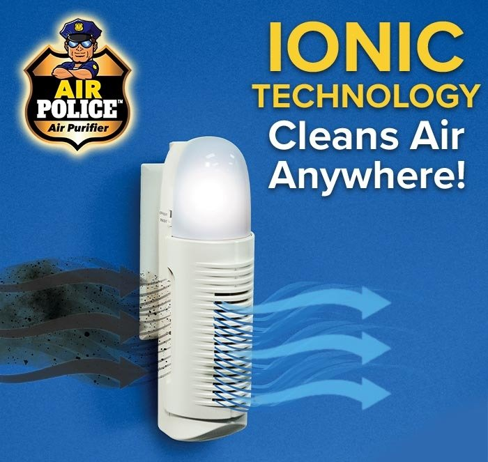 Ionic Technology Cleans Air Anywhere! Air Police