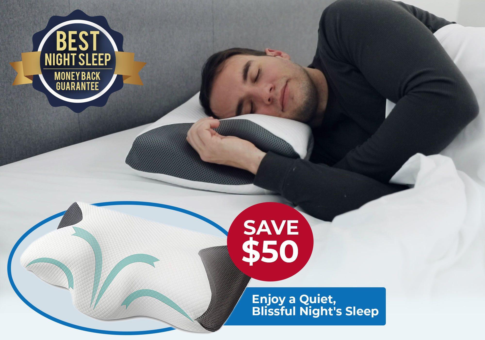 SnoreX Pillow Plus Bonus Pillow
