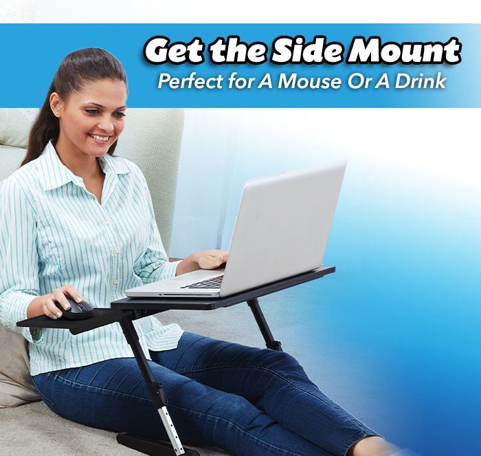 Get the side mount perfect for a mouse or a drink