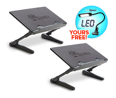 Two Air Space Laptop Desk with LED Light Yours Free!
