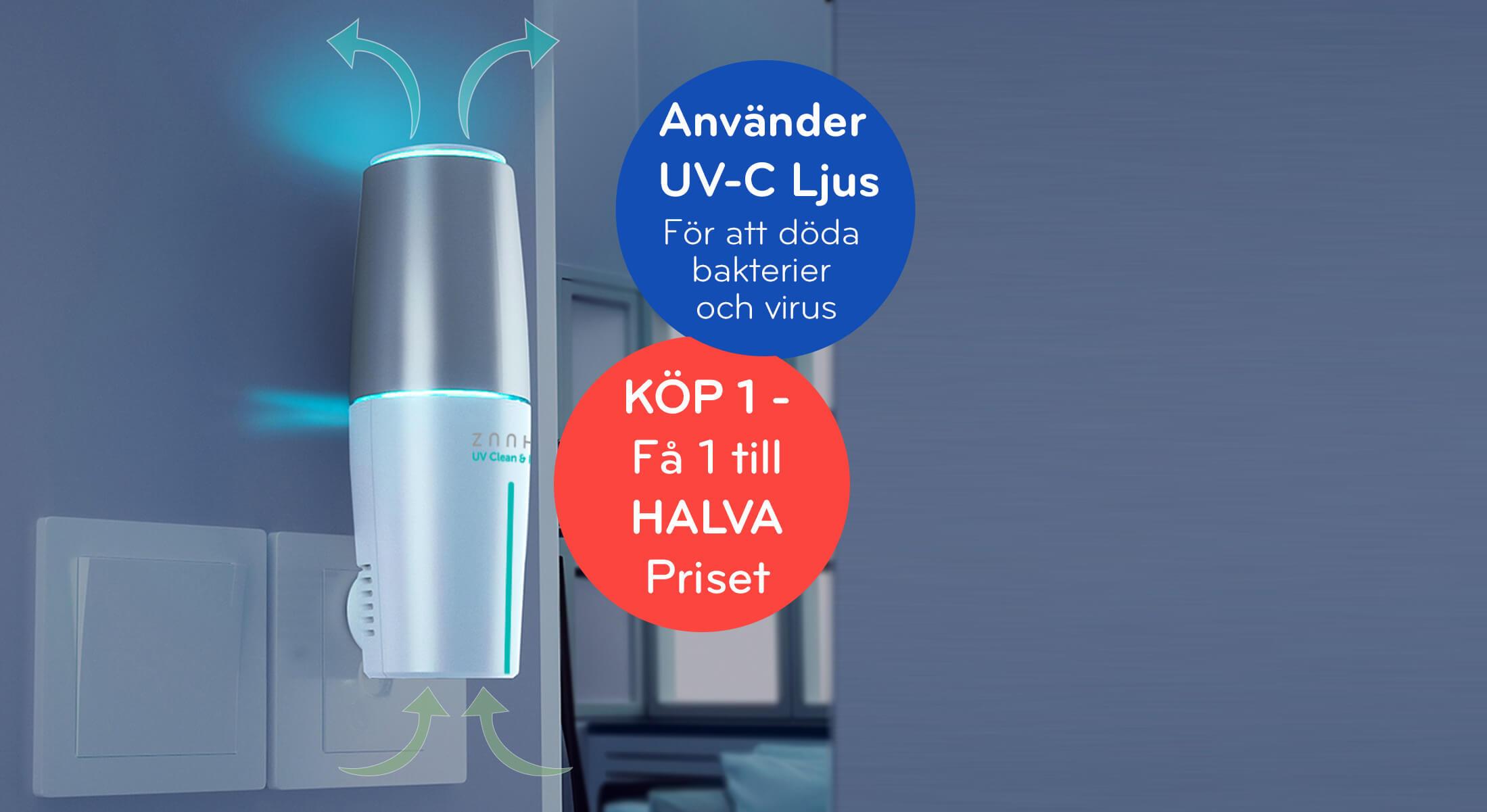 UV Ljus lampa Dödar bakterier | Zaahn UV | TVINS