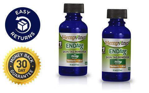 Easy Returns; 30 Day Money Back Guarantee; 2 Hempvana End Tags