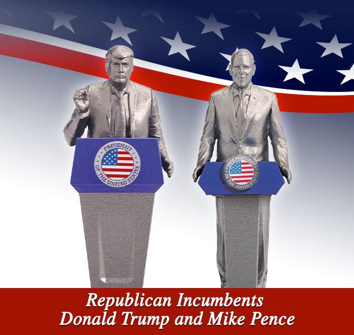 Reublican Incumbents Donald Trump and Mike Pence