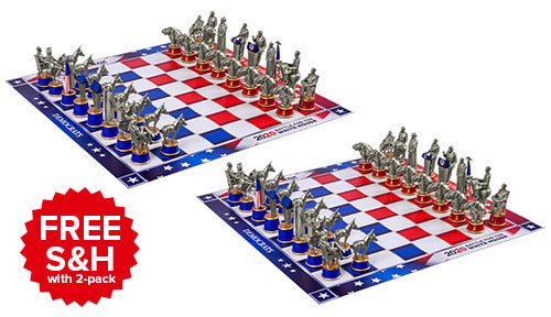 2-Pack 2020 Battle for the White House Chess Set Free S&H with 2-pack