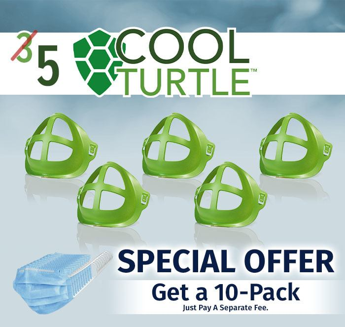 Get Five Cool Turtles Special Offer Get a 10-Pack Just pay a separate fee.