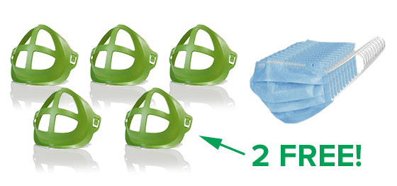 Five Cool Turtles, two free, 10 pack of Electroman Face Mask
