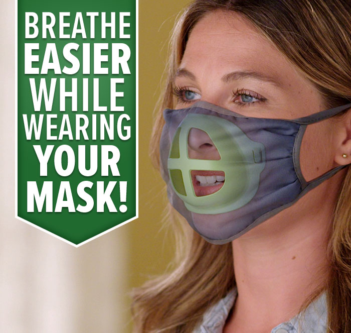 Breathe Easier While Wearing Your Mask!