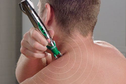 Man using Hempvana Rocket on shoulder
