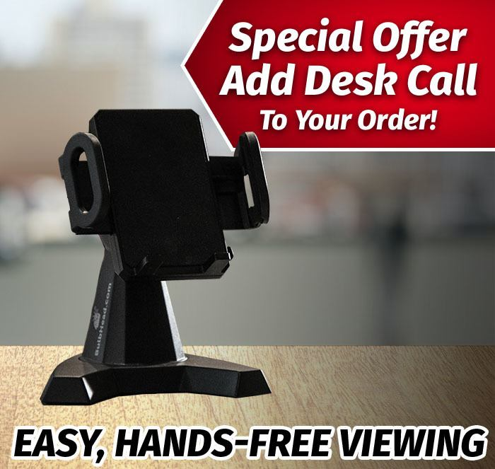 Special Offer add Desk Call to your order!; Easy, hands-free viewing; Desk Call on table