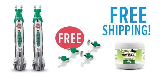 Free shipping; Hempvana Pain Cream; 2 Hempvana Rockets