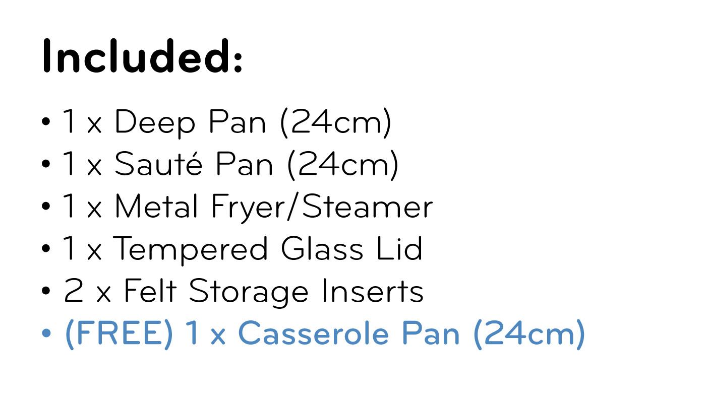 FlavorStone Diamond Set (24cm) List