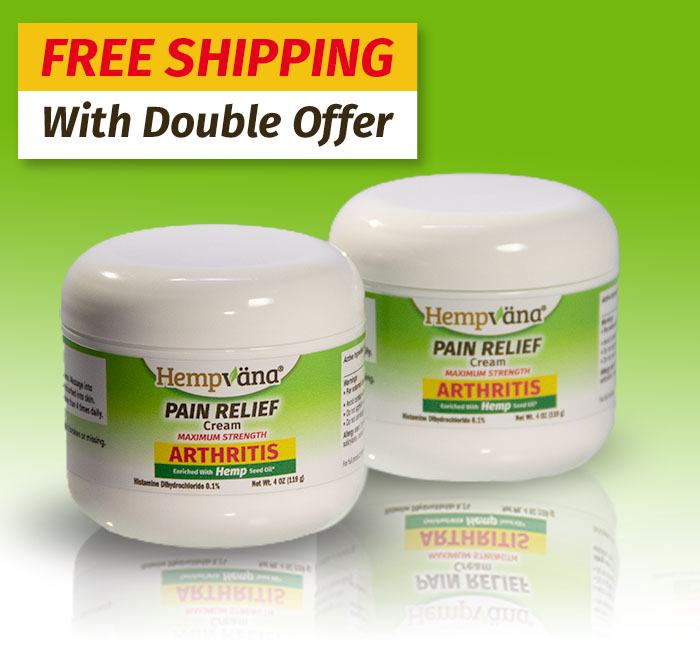 Free shipping with double offer; Two Hempvana Arthritis Pain Creams
