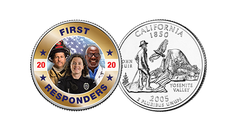 First Responders on US Mint State Quarter