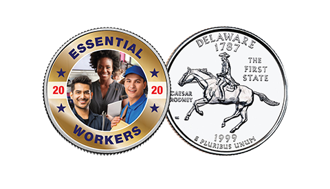Essential Workers on US Mint State Quarter