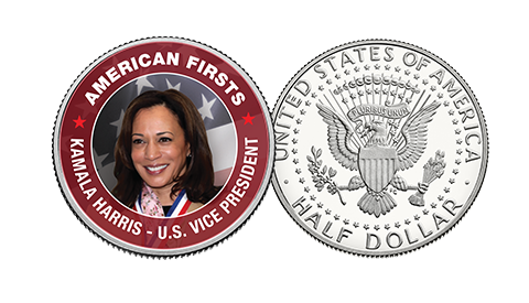Vice President Kamala Harris on JFK Half Dollar