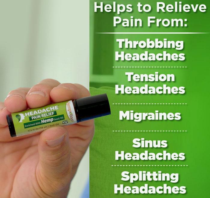 close up of someone holding Hempvana Headache