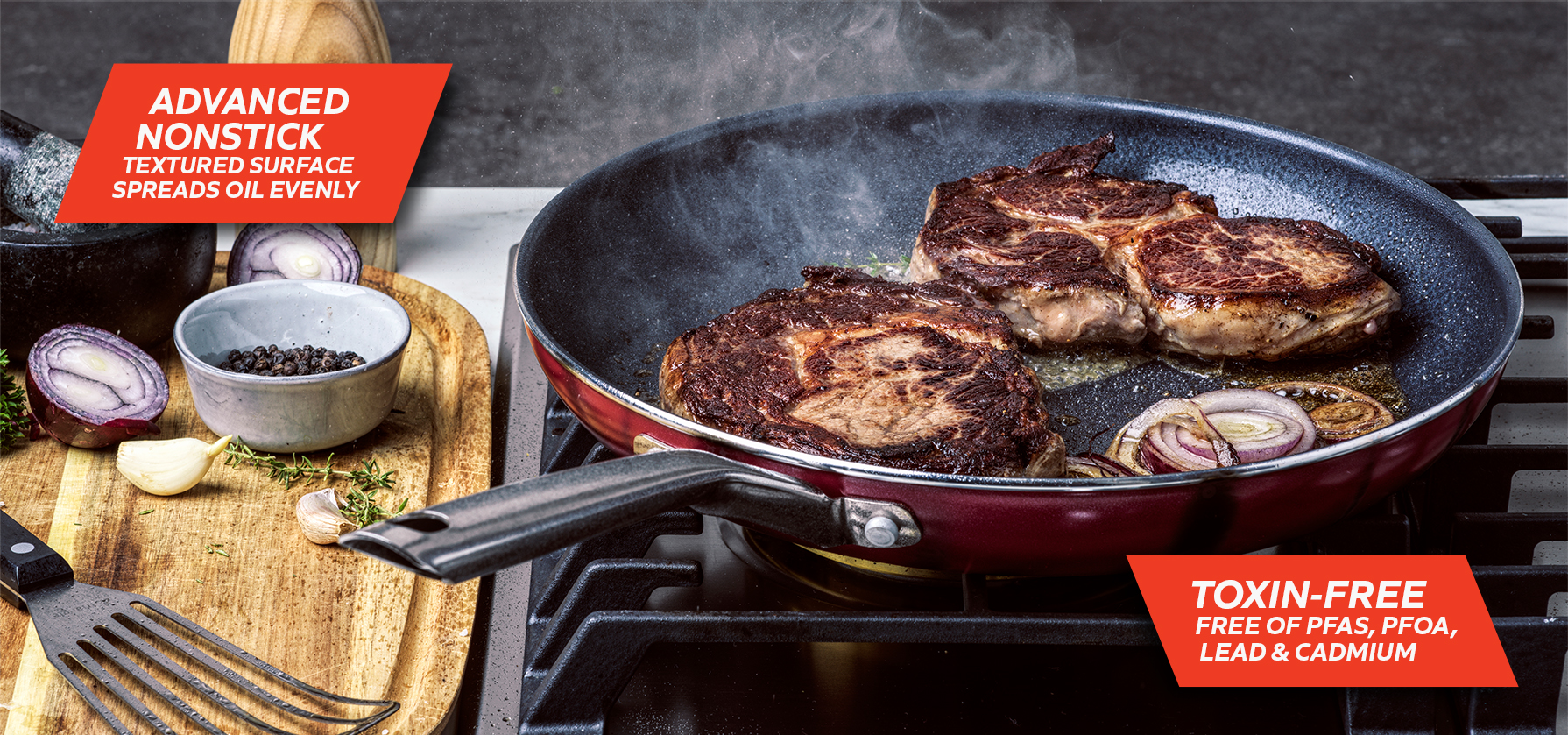 Red Volcano Toxin-Free & Non-stick Pan by the Cookware Company