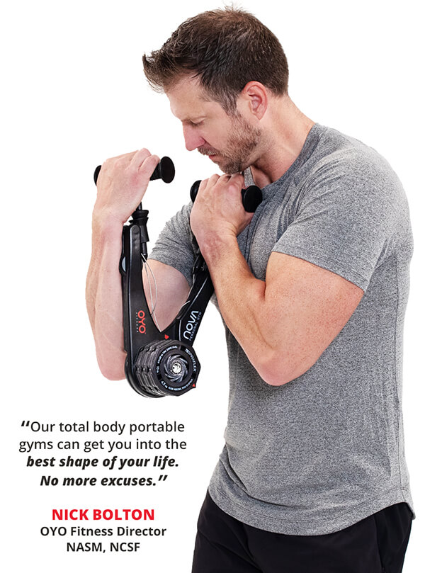 Our total body portable gym can get you into the best shape of your life. No more excuses!