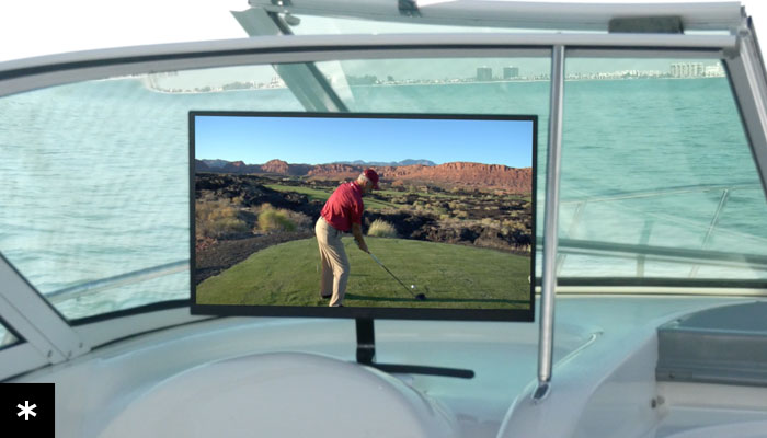 Get crystal-clear HD TV on the Boat